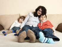 Peaceful family Royalty Free Stock Images