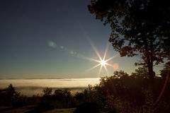 Peaceful landscape with flare. Stock Photography