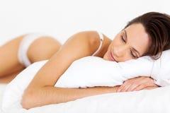 Peaceful woman sleeping Royalty Free Stock Photos