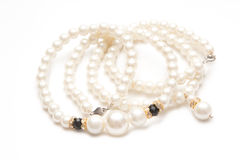 Pearl necklace isolated Stock Photo