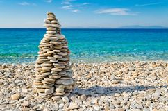 Pebble tower Royalty Free Stock Images