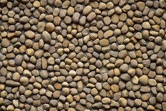 Pebble wall texture Royalty Free Stock Image