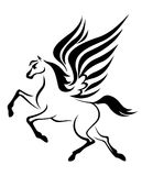 Pegasus horse with wings Stock Image