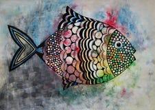 Peixes felizes Fotografia de Stock