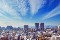Peking-Landschaft am sonnigen Tag Lizenzfreie Stockfotos