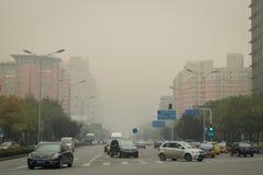 Peking-Luftverschmutzung Lizenzfreies Stockbild