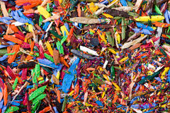 Pencil shavings background Royalty Free Stock Photo