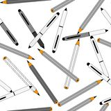 Pencils repetition Stock Photo