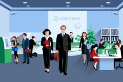 People In Bank Royalty Free Stock Photo