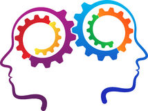 People contribution gears Stock Image