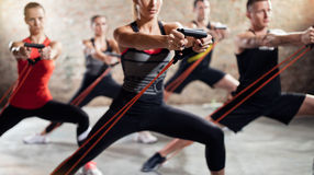 People on exercise class Royalty Free Stock Photos