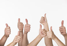 People Giving Thumbs-up Stock Photography
