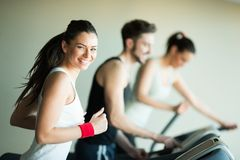 People in the gym Stock Images