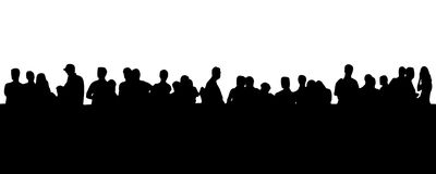 People in line (EPS format available) Stock Photography