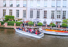 People on a pleasure boat Royalty Free Stock Photo
