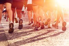 People running marathon Stock Image