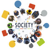 People Social Networking with Text Society Royalty Free Stock Photos
