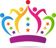 People team crown Royalty Free Stock Images