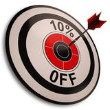 10 Percent Off Shows Reduction In Price Royalty Free Stock Images