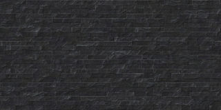 Perfect seamless black slate stone masonry texture Stock Photo
