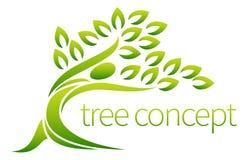 Person tree icon Stock Photo