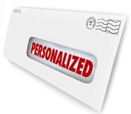 Personalized Envelope Mailed Message Special Unique Communicatio Royalty Free Stock Photos