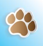 Pet Dog Paw Print Sticker Royalty Free Stock Photo
