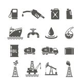 Petroleum Industry Icon Set Stock Images