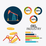 Petroleum and oil industry infographic design Stock Photo