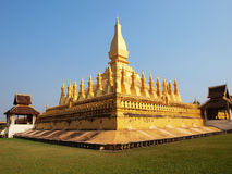 PHA-THAT LUANG TEMPLE Stock Image