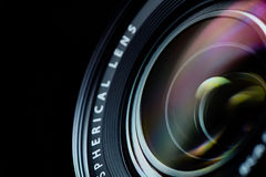 Photo camera lens closeup Stock Photography