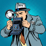 Photographer paparazzi at work press media camera Royalty Free Stock Image