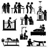 Physio Physiotherapy and Rehabilitation Treatment Clipart Stock Photo
