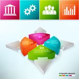 Pie Chart With Arrows 3d Royalty Free Stock Photography
