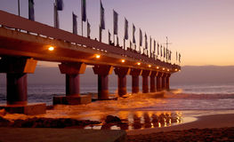Pier in Port Elizabeth at sunrise Royalty Free Stock Photos