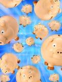Piggy Bank Savings Background Stock Photos