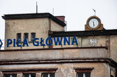 Pila Głowna railway station in poland Stock Image