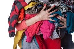 Pile of clothes Royalty Free Stock Photos
