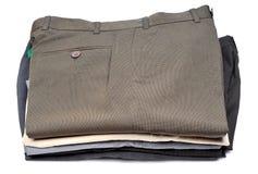 Pile of formal pants Stock Photos