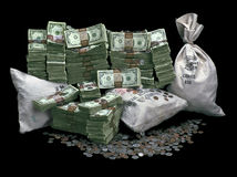 Pile of Money Royalty Free Stock Image