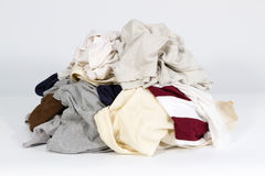 Pile of old clothes Stock Image
