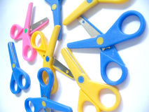 Pile of scissors Royalty Free Stock Images