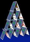 Pilha do cartão Fotografia de Stock