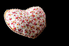 Pillow heart Stock Photography