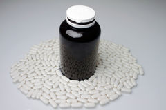 Pills with dose Royalty Free Stock Photos