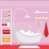 Pink bathroom for girl Stock Images