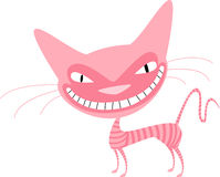 Pink cat with stripes Royalty Free Stock Images