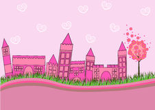 Pink City Royalty Free Stock Photos