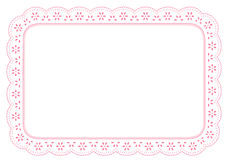Pink Eyelet Lace Place Mat Stock Photography