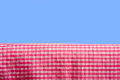 Pink Gingham On Blue Sky Stock Photography